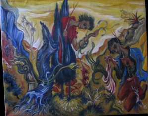 Collecteurs de serpents  97x134  cm